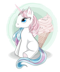 unicorn and ice cream
