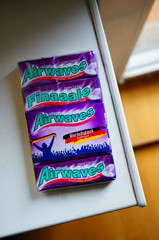 Pack of Wrigley's Airwaves chewing gum on January 1, 2015 in Poznan, Poland.