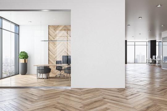 Contemporary office interior with empty copyspace