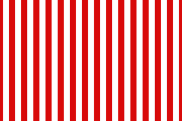 Vector seamless vertical stripes pattern, red and white. Simple background