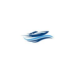 inspiration boat ship sea sailing transportation vector logo