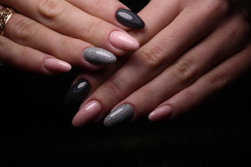 Foto op Plexiglas Manicure Fashionable design of manicure on beautiful pens