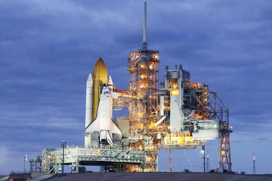 Launch pad of the space shuttle. Elements of this image were furnished by NASA