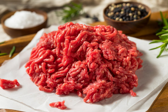 Raw Organic Red Ground Minced Beef