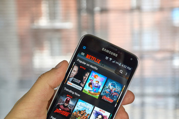 Netflix app on android cell phone