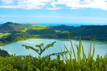 View about a Azores Lake
