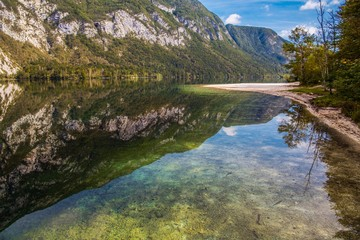 Fotomurales - Lake Bohinj Fall Season