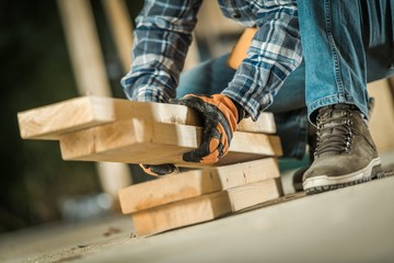Fototapeta Wood Building Elements obraz