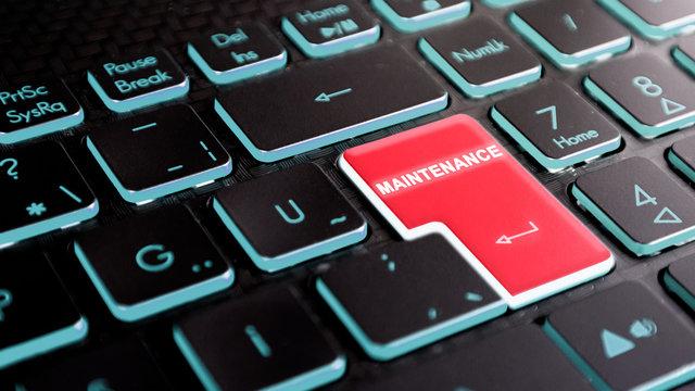 maintenance text on keyboard enter key