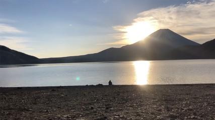 富士山からあがる太陽