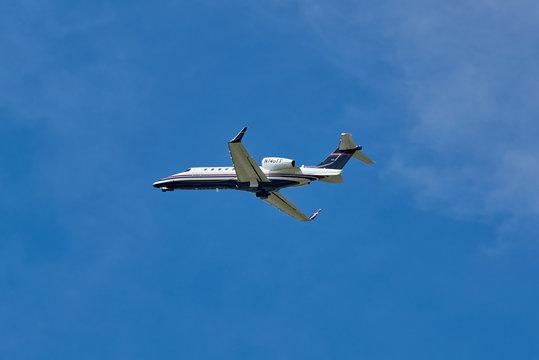 Landing N745TT airplane