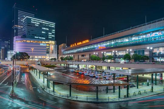SENDAI, JAPAN - OCTOBER 04, 2019: Sendai Station is a major railway station in Miyagi, Japan. It is a stop for all Akita and Tohoku Shinkansen trains