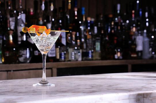 Martini cocktail corn and chili