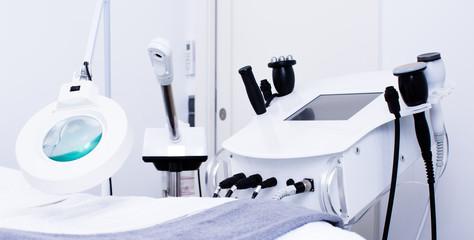 Fototapeta Cosmetological devices in beautician office obraz