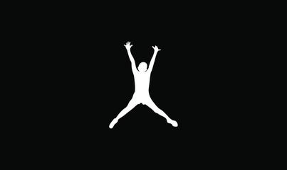 kids jump logo icon design vector