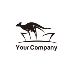 Sydney opera house and kangaroo for a good logo themed in Australia.
