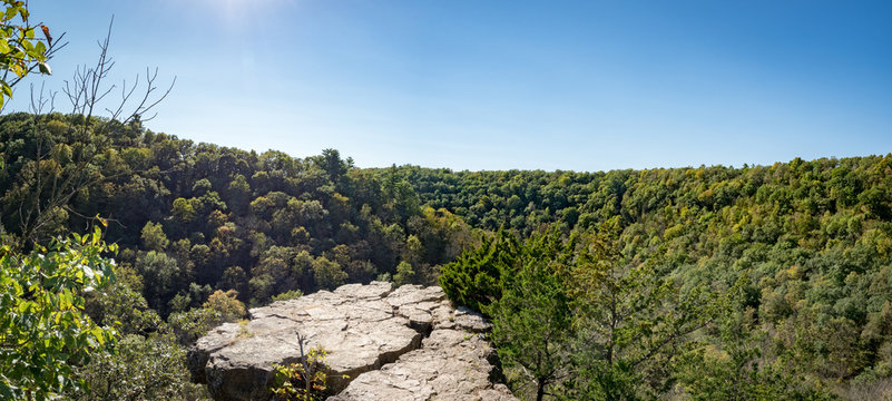 Inspiration Point, Whitewater State Park, Winona, Minnesota, USA in fall