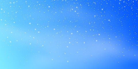 Fotomurales - Snow background. Snowfall, snowflakes in different shapes. Christmas snowstorm blizzard