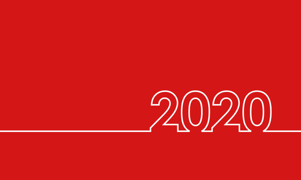 2020 happy new year, simple vector background or cover