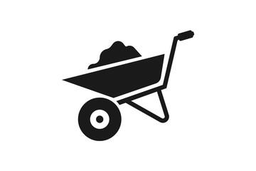 wheelbarrow icon vector design illustration