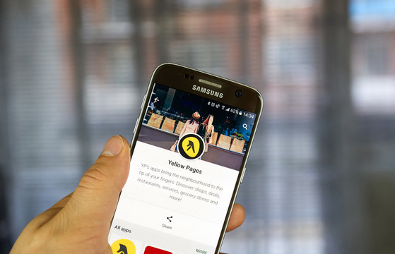 Yellow Pages mobile application.