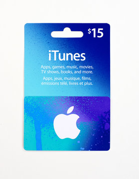 iTunes gift card on a white background.