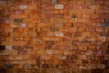 Old red brown brick wall texture background.