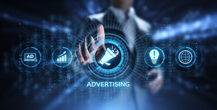 Advertising Marketing Sales Growth Business concept on screen.