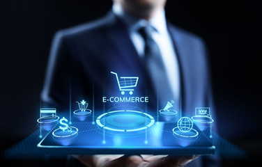 E-commerce Online Shopping Digital marketing and sales business technology concept.
