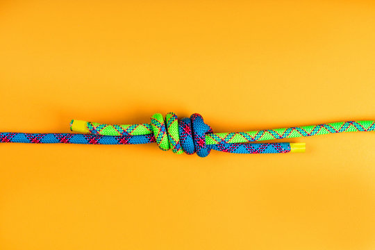 Rope and knot on  background.