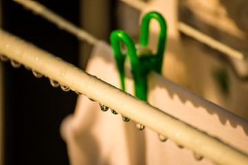 drying rack with raindrops