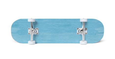 Skateboard isolated on white mockup 3D rendering