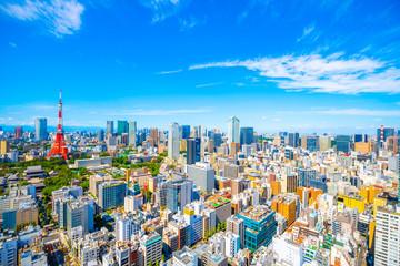 東京タワー 都市風景