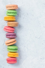 Spoed Foto op Canvas Macarons Colorful macarons