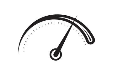 black speedometer dial illustration