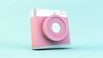 Pink social media camera