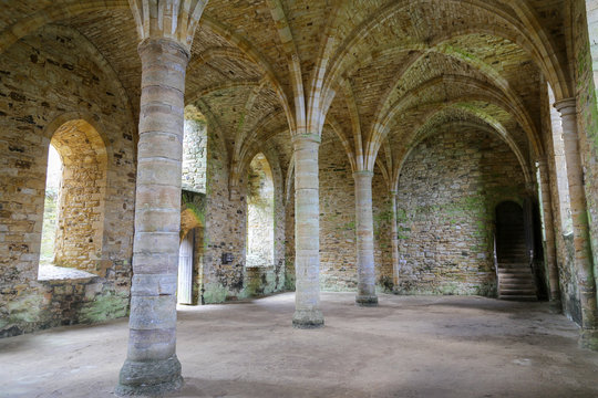 Cloisters at Ancient Abbey in Sussex