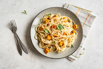 Fotobehang - Pumpkin Spaghetti Pasta