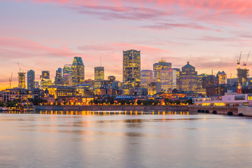 Wall Mural - Downtown Montreal skyline at sunset
