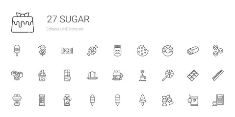 sugar icons set