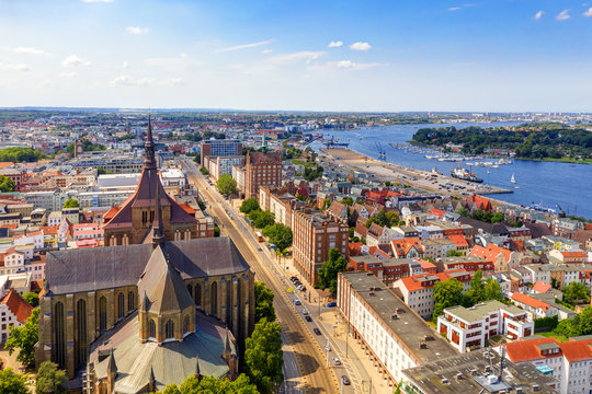 Sunny Day at Hanseatic City of Rostock