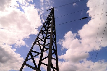 High Voltage Electric Transmission Tower , digital image picture