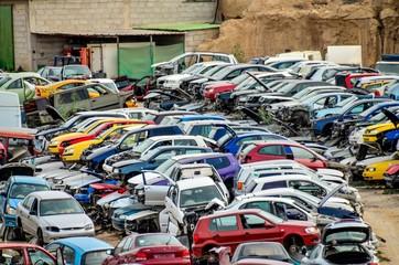 Old Junk Cars On Junkyard , digital image picture
