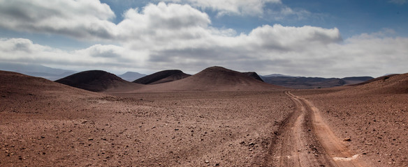 Poster Cappuccino Road in the Namibian Desert of Damaraland, part of the Erono Region