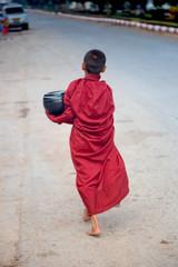 kleiner Bettelmönch in Myanmar