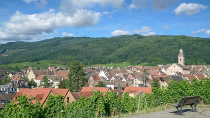 der bekannte Weinort Riquewihr in Grand Est region(früher Elsass),Frankreich