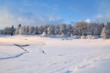 der winterliche Kranichsee in Kurort Goslar-Hahnenklee im Harz,Niedersachsen,Deutschland