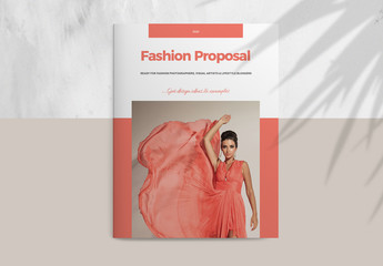 Fashion Proposal Layout with Salmon Accents