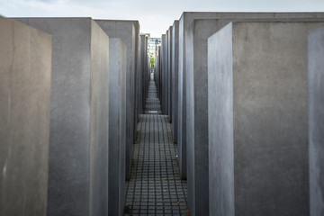 Memorial to the Murdered Jews of Europe in Berlin on June 27, 2015. Its a memorial in Berlin to the Jewish victims of the Holocaust.