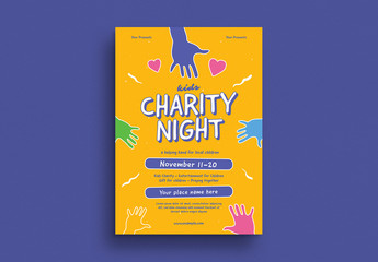 Charity Night Event Graphic Flyer Layout